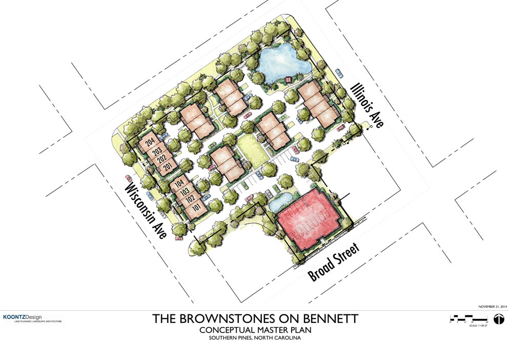 Brownstones on Bennett Site Plan